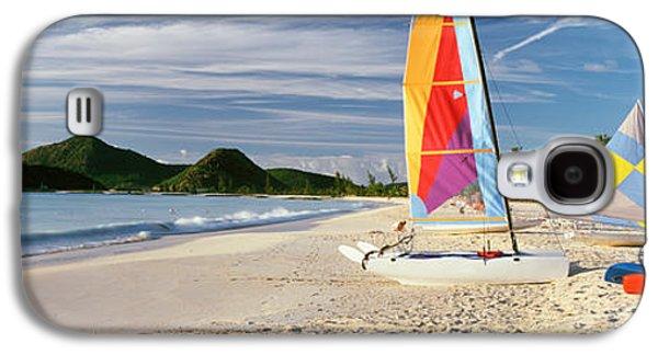 Sail Boats On The Beach, Antigua Galaxy S4 Case