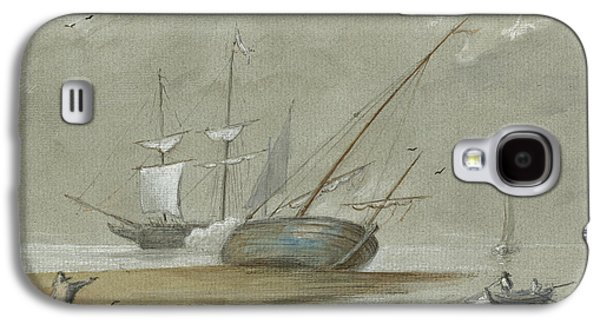 Sail Ships And Fishing Boats Galaxy S4 Case
