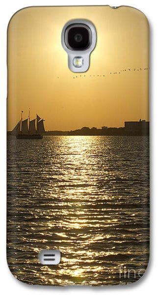 Sailboat Sunset On The Charleston Harbor Galaxy S4 Case by Dustin K Ryan