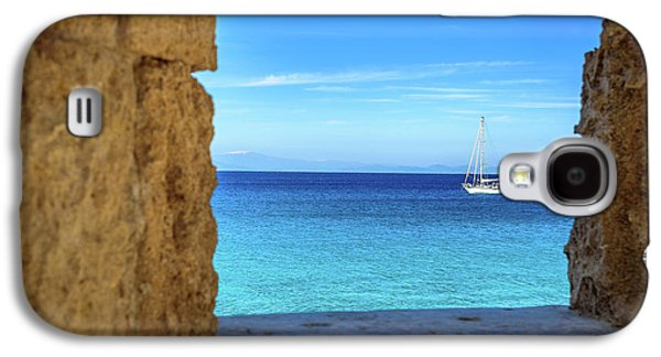 Sailboat Through The Old Stone Walls Of Rhodes, Greece Galaxy S4 Case