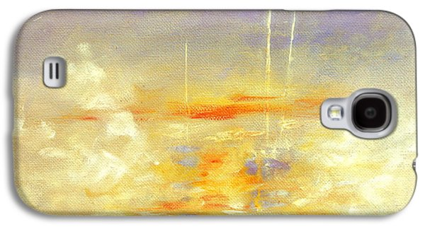 Sailboats At Dawn Galaxy S4 Case by Hanne Lore Koehler