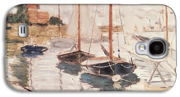 Sailboats On The Seine Galaxy S4 Case by Claude Monet