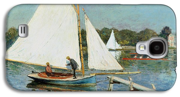 Sailing At Argenteuil Galaxy S4 Case by Claude Monet