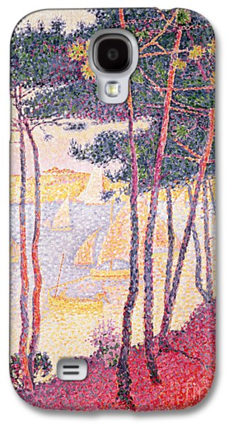 Sailing Boats And Pine Trees Galaxy S4 Case by Paul Signac