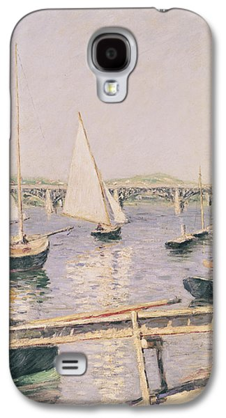Sailing Boats At Argenteuil Galaxy S4 Case by Gustave Caillebotte