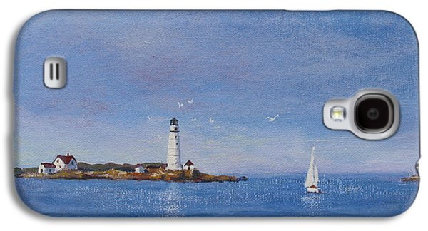 Sailing To Boston Light Galaxy S4 Case by Laura Lee Zanghetti
