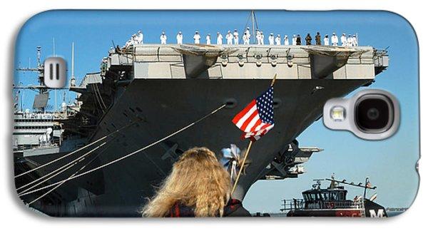 Sailors Aboard Aircraft Carrier Uss Galaxy S4 Case by Stocktrek Images