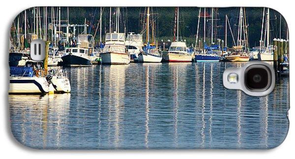 Sails At Dock Galaxy S4 Case by Karol Livote