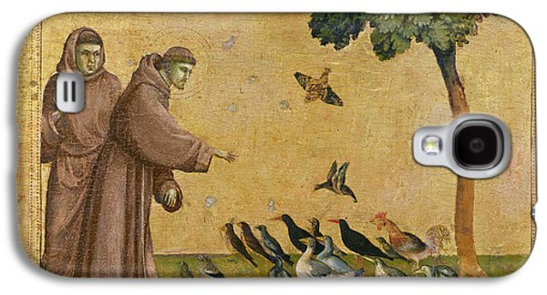 Saint Francis Of Assisi Preaching To The Birds Galaxy S4 Case by Giotto di Bondone
