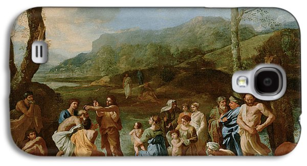 Saint John Baptizing In The River Galaxy S4 Case by Nicolas Poussin