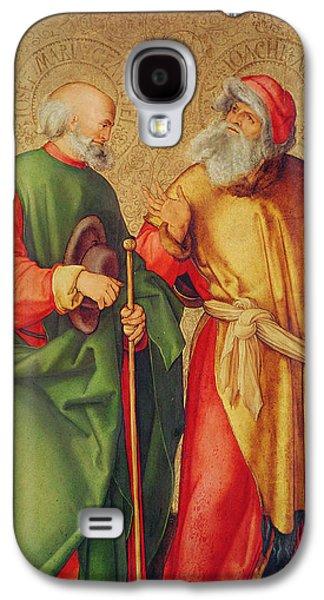 Saint Joseph And Saint Joachim Galaxy S4 Case by Albrecht Durer or Duerer