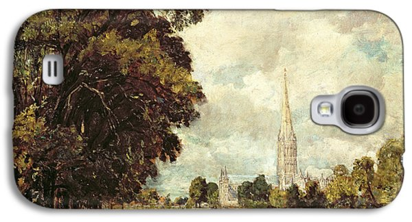 Salisbury Cathedral From Lower Marsh Close Galaxy S4 Case by John Constable