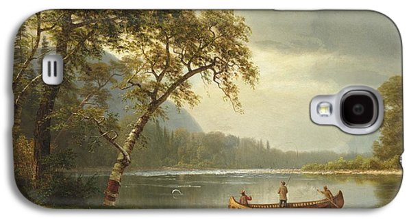 Salmon Fishing On The Caspapediac River Galaxy S4 Case by Albert Bierstadt