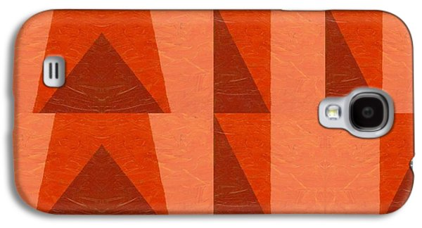 Galaxy S4 Case featuring the painting Salmon With Red And Brown by Michelle Calkins