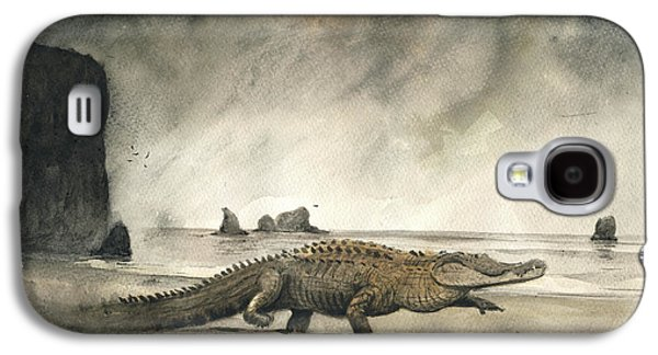 Crocodile Galaxy S4 Case - Saltwater Crocodile by Juan Bosco