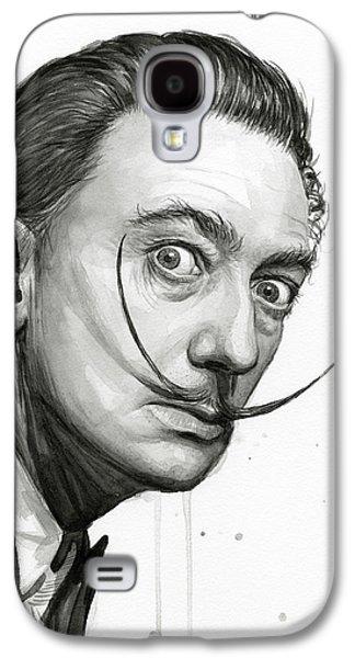 Salvador Dali Portrait Black And White Watercolor Galaxy S4 Case by Olga Shvartsur