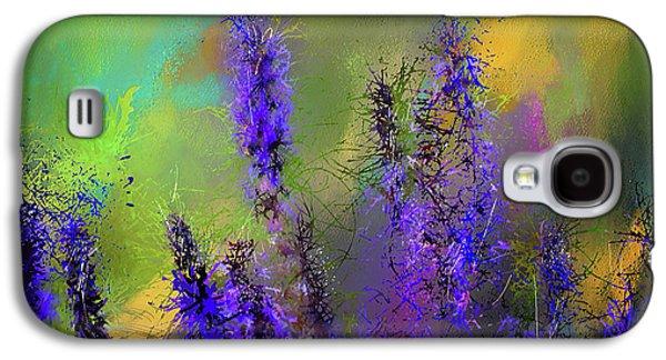 Salvia May Night Art -purple Modern Abstract Art Galaxy S4 Case by Lourry Legarde