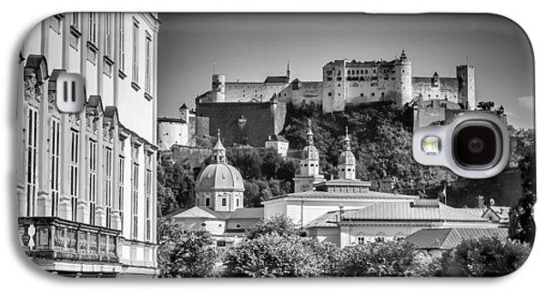 Salzburg Wonderful View To Salzburg Fortress Monochrome Galaxy S4 Case by Melanie Viola