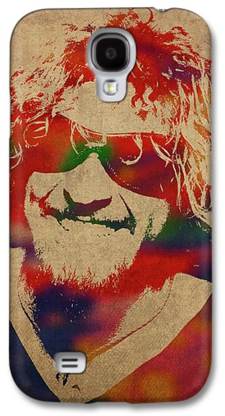 Van Halen Galaxy S4 Case - Sammy Hagar Van Halen Watercolor Portrait by Design Turnpike