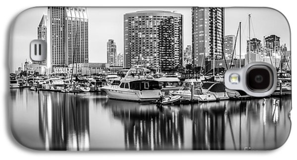 San Diego At Night Black And White Picture Galaxy S4 Case