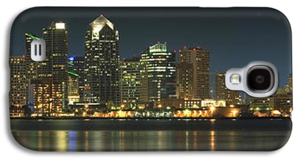 Waterscape Digital Galaxy S4 Cases - San Diego Cityscape Galaxy S4 Case by Mike McGlothlen