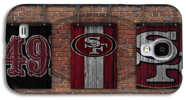 San Francisco 49ers Brick Wall Galaxy S4 Case by Joe Hamilton