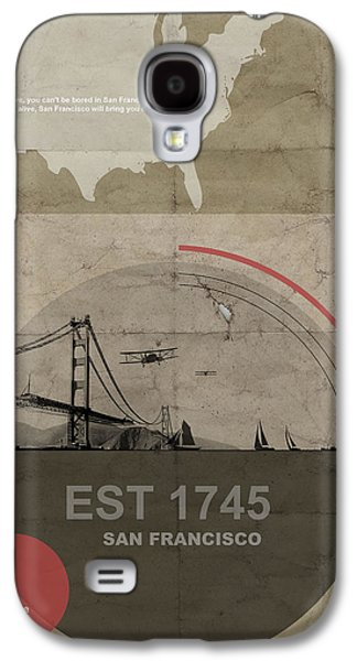 Transportation Pyrography Galaxy S4 Cases - San Fransisco Galaxy S4 Case by Naxart Studio