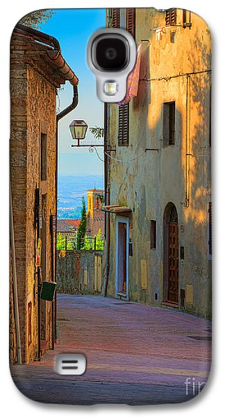 San Gimignano Alley Galaxy S4 Case by Inge Johnsson