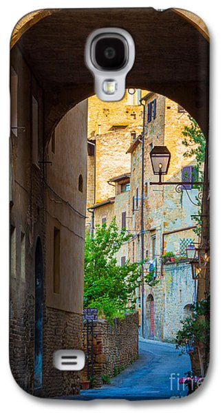San Gimignano Archway Galaxy S4 Case by Inge Johnsson