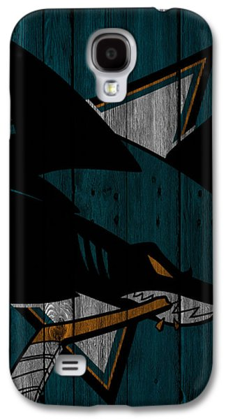 San Jose Sharks Wood Fence Galaxy S4 Case