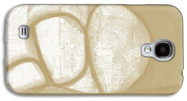 Camel Galaxy S4 Case - Sand And Stone 1- Contemporary Abstract Art By Linda Woods by Linda Woods