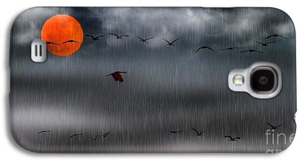 Sand Hills Flying In The Rain Galaxy S4 Case