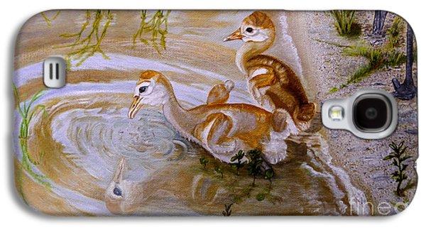 Sandhill Cranes Chicks First Bath Galaxy S4 Case by Zina Stromberg