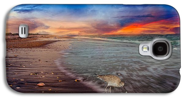Sandpiper Galaxy S4 Case - Sandpiper Sunrise by Betsy Knapp