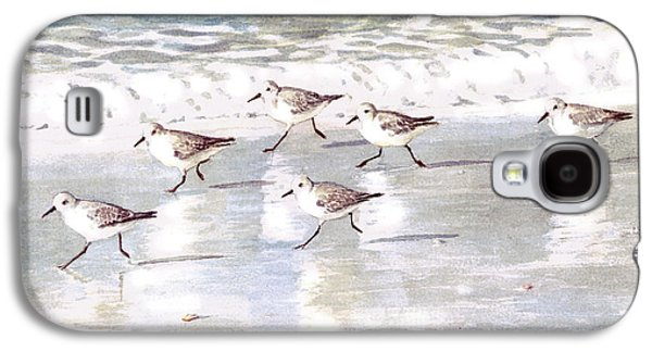 Sandpiper Galaxy S4 Case - Sandpipers On Siesta Key by Shawn McLoughlin