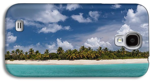 Galaxy S4 Case featuring the photograph Sandy Cay Beach British Virgin Islands Panoramic by Adam Romanowicz
