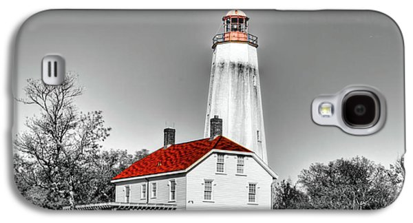 Sandy Hook Lighthouse And Selective Coloring  Galaxy S4 Case by Geraldine Scull