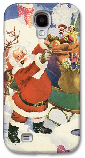 Santa And His Bags Of Toys On Christmas Eve Galaxy S4 Case