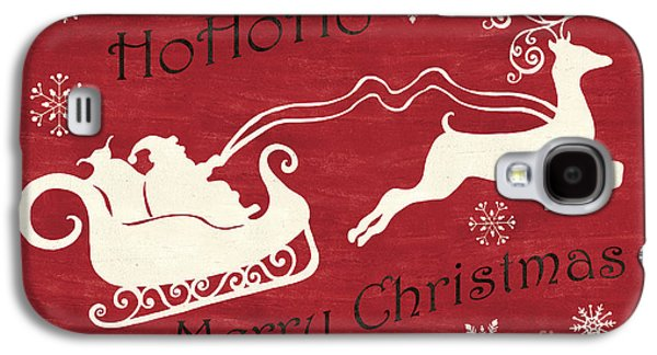 Santa And Reindeer Sleigh Galaxy S4 Case by Debbie DeWitt