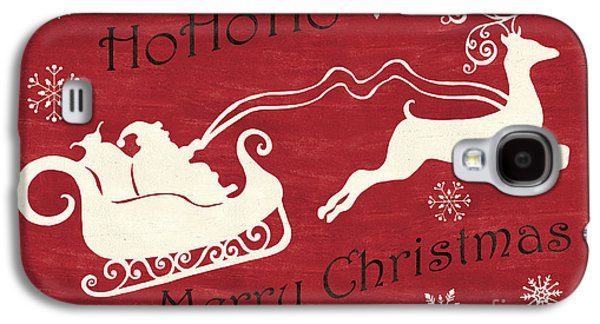 Santa And Reindeer Sleigh Galaxy S4 Case by Debbie DeWitt