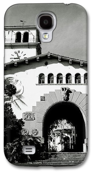 Santa Barbara Courthouse Black And White-by Linda Woods Galaxy S4 Case