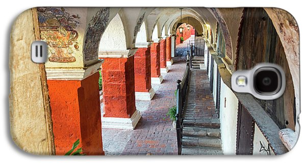 Santa Catalina Monastery Corridor Galaxy S4 Case by Jess Kraft