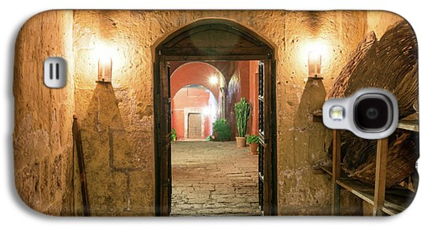 Santa Catalina Monastery Hallway Galaxy S4 Case by Jess Kraft