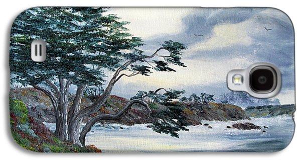 Santa Cruz Cypress Tree Galaxy S4 Case by Laura Iverson