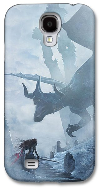 Santa Georgina Vs The Dragon Galaxy S4 Case by Guillem H Pongiluppi