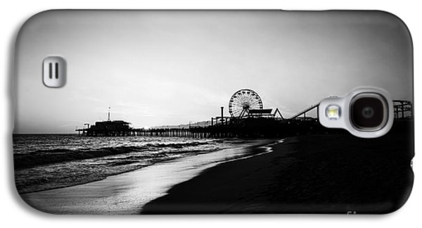 Santa Monica Pier Black And White Photography Galaxy S4 Case by Paul Velgos