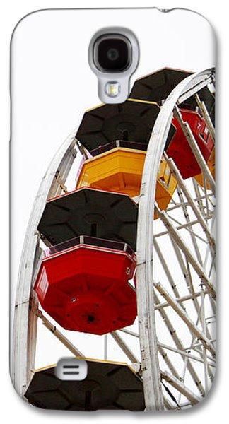 Santa Monica Pier Ferris Wheel- By Linda Woods Galaxy S4 Case by Linda Woods