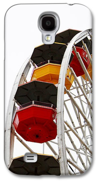 Santa Monica Pier Ferris Wheel- By Linda Woods Galaxy S4 Case by Linda Woods