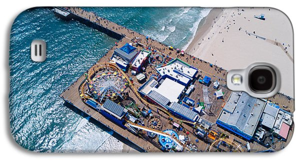 Santa Monica Pier From Above Side Galaxy S4 Case