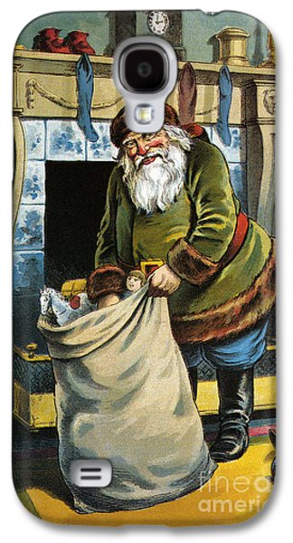 Santa Unpacks His Bag Of Toys On Christmas Eve Galaxy S4 Case by William Roger Snow